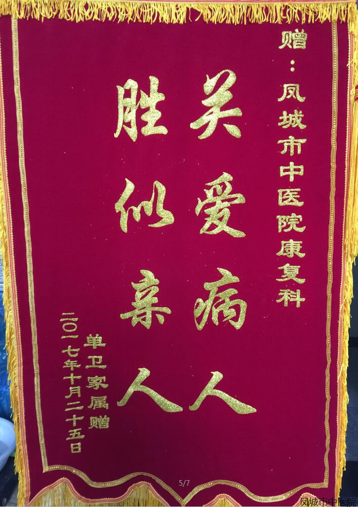 title='赠凤城市中医院康复科'